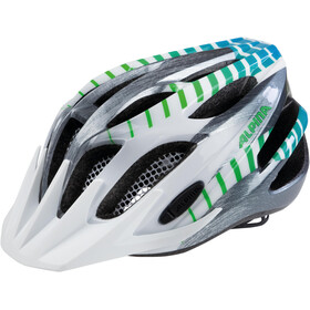 Alpina FB 2.0 Flash Helmet Kinder white-steelgrey-gradient